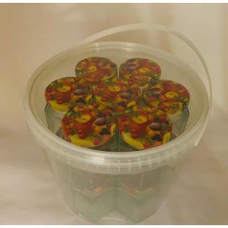 Einkoch-Set: Pflückeimer + 14 Einmachgläser