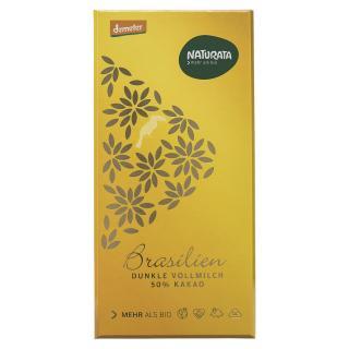 Dunkle VM Schokolade Brasilien 50% 80g