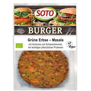 Burger Grüne Erbse-Masala 2x80g SOT